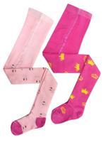 Комплект детских колготок, цвет: розовый, рост: 104-110 см, 2 штуки