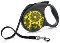 "Поводок-рулетка Triol Flexi ""Joy Lemon"", лента, размер L"
