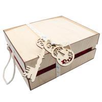 """Наборы для оформления подарка """"Деревянный ящик с наполнением №8"""", 25x30 см"""