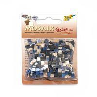 """Мозаика """"Мраморная"""", 5х5 мм, 700 штук, оттенки синего"""