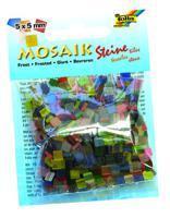 """Мозаика """"Замороженное стекло"""", 5х5 мм, 700 штук, ассорти из 20 цветов"""