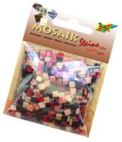 "Мозаика ""Мраморная"", 5х5 мм, 700 штук, оттенки красного"