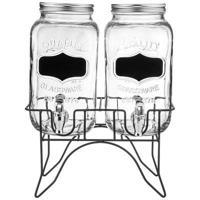 """Набор диспенсеров для напитков """"Lefard"""", на подставке, 30x15,2x38 см, на 3 и 4 литра"""