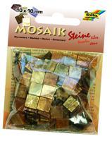 """Мозаика """"Мраморная"""", 10х10 мм, 190 штук, оттенки коричневого"""