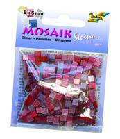 """Мозаика """"Тонированная с блестками"""", 5х5 мм, 700 штук, оттенки розового"""