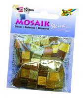 """Мозаика """"Тонированная с блестками"""", 10х10 мм, 190 штук, оттенки коричневого"""