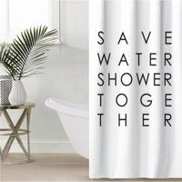 """Штора для ванной Этель """"Save water"""", 145x180 см, полиэстер"""