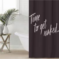 """Штора для ванной Этель """"Time to get naked"""", 145x180 см, полиэстер"""