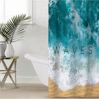 """Штора для ванной Этель """"Waves"""", 145x180 см, полиэстер"""