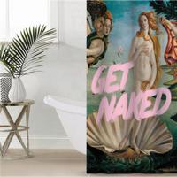 """Штора для ванной Этель """"Get naked"""", 145x180 см, полиэстер"""
