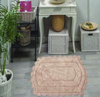 """Набор ковриков для ванной комнаты """"Bella"""", 2 штуки, 50х70 см и 60х100 см, цвет: капучино"""