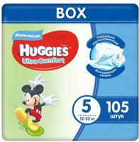 """Подгузники для мальчиков Huggies """"Ultra Comfort Disney Box"""", (5), L (Junior), 12-22 кг, 105 штук"""