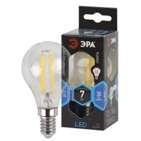 """Светодиодная филаментная лампа """"Эра"""", цвет: нейтральный, шар, цоколь E14, 7(55) Вт"""