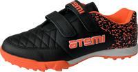 Бутсы футбольные Atemi SD150 TURF, черно-оранжевые, размер 30