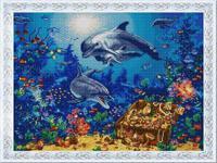 """Рисунок на ткани для вышивания бисером """"Морские сокровища"""", 45х60 см, арт. 1330"""
