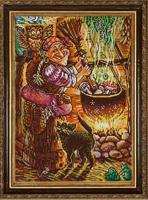 "Рисунок на ткани для вышивания бисером ""Кулинар Баба Яга"", 29х39 см, арт. 1364"