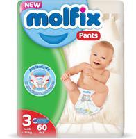 """Подгузники-трусики детские №3 """"Molfix"""", 6-11 кг, 60 штук"""