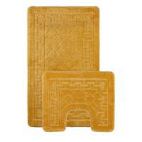 """Набор ковриков для ванной """"Shahintex РР"""", 2 штуки, 60x100 см, 60x50 см, цвет: жёлтый 60 (арт. 9294-16)"""