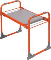 Скамейка садовая Ника, складная, с мягким сиденьем (оранжевая)