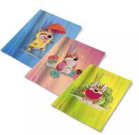 """Обложки для тетрадей с голографическим рисунком """"Корги"""", 3 штуки"""