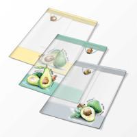 """Обложки для тетрадей с рисунком """"Авокадо"""", 3 штуки"""