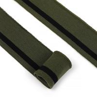 Подвяз трикотажный полиэстер, 3,5х80 см, цвет: олива с черной полосой, 5 штук, арт. TBY.73077