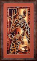 """Набор для вышивания бисером """"Африка Жирафы"""", 22х46 см, арт. Б057"""