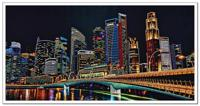"""Набор для вышивания бисером """"Ночной город"""", 60х30 см, арт. ДК1102"""
