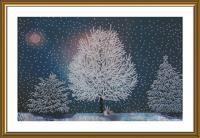 """Набор для вышивания бисером """"В серебряном лесу"""", 38,8х25,3 см, арт. НК3304"""