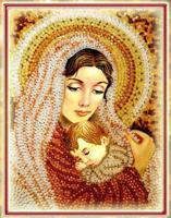 """Набор для вышивания хрустальными бусинами """"Дева Мария"""", 28х20,5 см, арт. 5521"""
