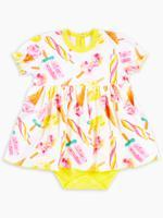 """Боди-платье с коротким рукавом """"Ice-Cream"""", кулирка, размер 68, рост 63-68 см"""