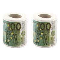 """Набор туалетной бумаги """"100 евро"""", 2 штуки"""