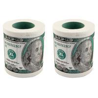 """Набор туалетной бумаги """"100 долларов"""", 2 штуки"""