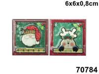 """Сувенир """"Магнит. Новогодняя открытка"""", 6x6 см"""