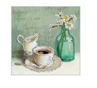 """Набор для вышивания бисером """"Кофе и цветы"""""""