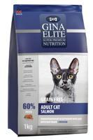 """Сухой корм для взрослых кошек Gina Elite """"Grain Free"""", с лососем, 1 кг"""
