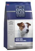 """Сухой корм для взрослых собак Gina Elite """"Dog"""", с белой рыбой и рисом, 8 кг"""