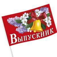 "Флаг ""Выпускник"", 20х12 см"