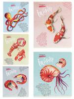 """Тетрадь """"Морские обитатели"""", А5, 48 листов, клетка"""