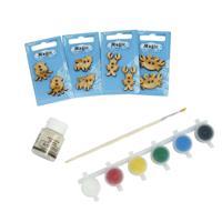 """Набор пуговиц для раскрашивания """"Подводный мир"""", 2-3 см, с красками"""
