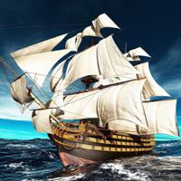 """Холст с красками """"Парусный корабль в море"""" (14 цветов)"""