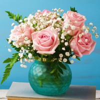"""Холст с красками """"Композиция из роз в вазе"""" (14 цветов)"""