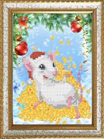 "Рисунок на ткани Каролинка ""Крыска на удачу"", 15х18 см, арт. КБЖ-5035"