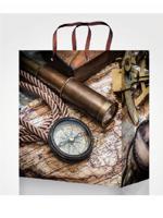 """Пакет подарочный """"Карта путешественника"""", 11,5x14,5x6 см"""
