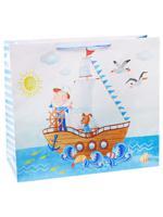 """Пакет подарочный """"Юный моряк"""", 45х45х21 см"""