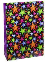 "Пакет подарочный ""Яркие звезды"", 45х45х21 см"