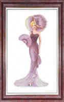 "Рисунок на ткани Каролинка ""Дама с веером"", 37x22 см, арт. КБЛ-3042"