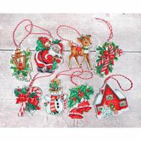 """Набор для вышивания LetiStitch """"Рождественские игрушки"""", 10x9 см (арт. Leti966)"""