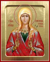 Икона мученицы Виктории Кордубской на дереве