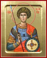 Икона великомученика Георгия Победоносца на дереве